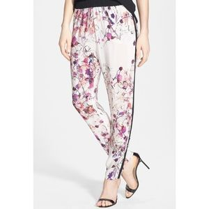 Chelsea29 Floral Woven Track Pants